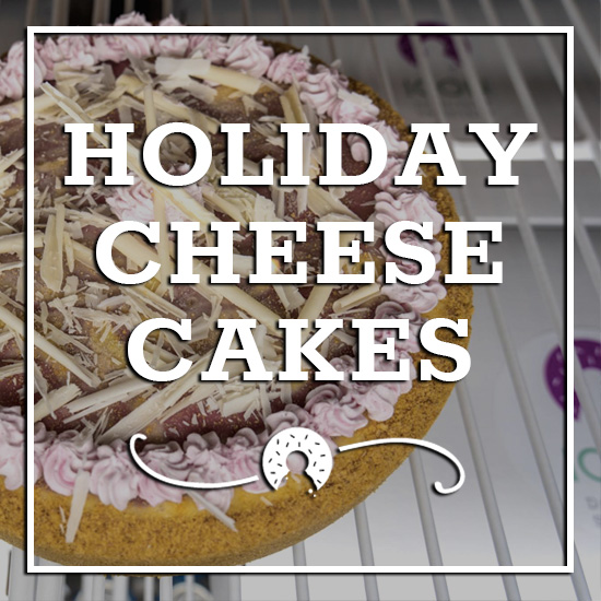 holiday cheesecakes icon donuts waterloo